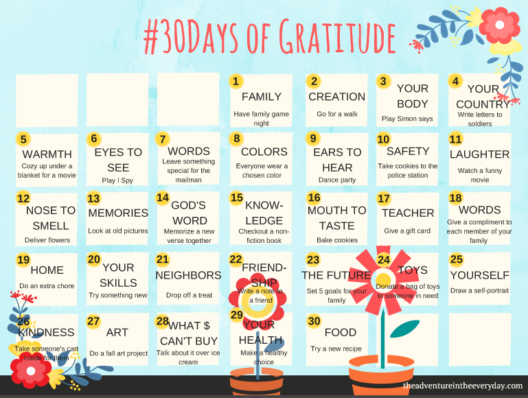 30 Days of Gratitude | Simple Ways to Cultivate a Spirit ...
