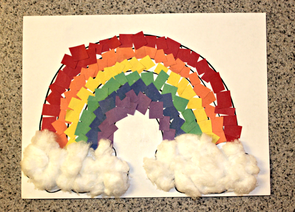 rainbow art and craft rainbow paper craft for live well play together 5308